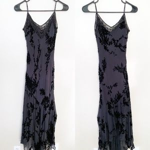 Sue Wong Nocturne Beaded Velvet Applique Maxi Slip